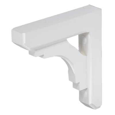 small white wood bracket