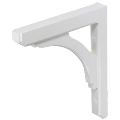 wood mailbox bracket white