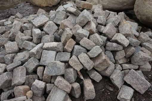Used Jumbo Cobble by South Shore Landscape Supply