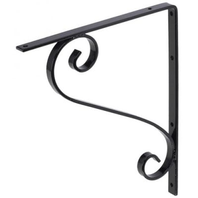 106 Iron Mailbox Bracket – Black