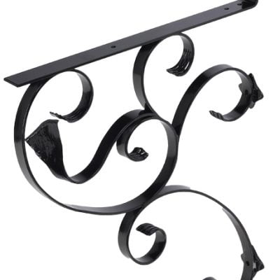 145 Iron Mailbox Bracket – Black