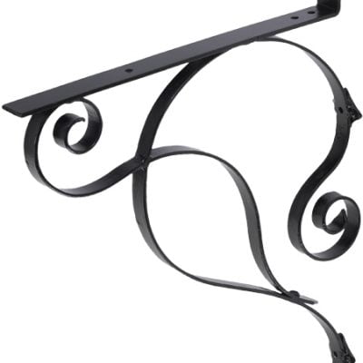 155 Iron Mailbox Bracket – Black