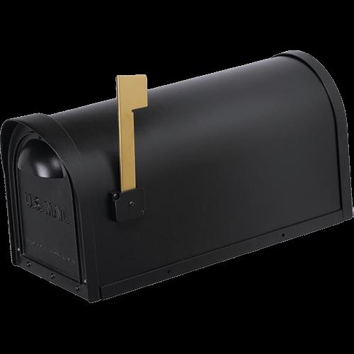 black cast aluminum mailbox