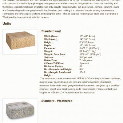 Versa-Lok – Gray Standard Block