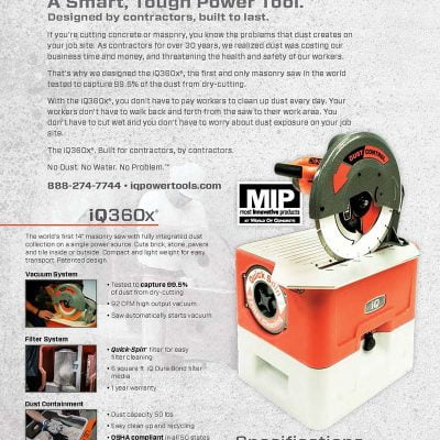 IQ360z  IQ 14″ Masonry Saw with...